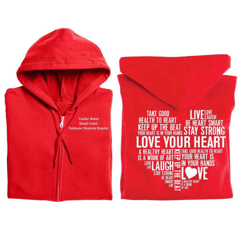 Lover Your Heart Gildan Heavy Blend ™ 8-oz. 50/50 Full-Zip Hood
