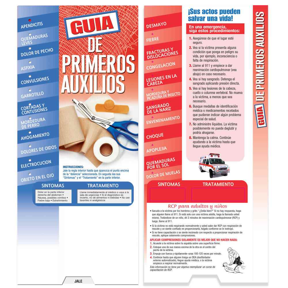 First Aid Spanish Language Slideguide - Personalization Available