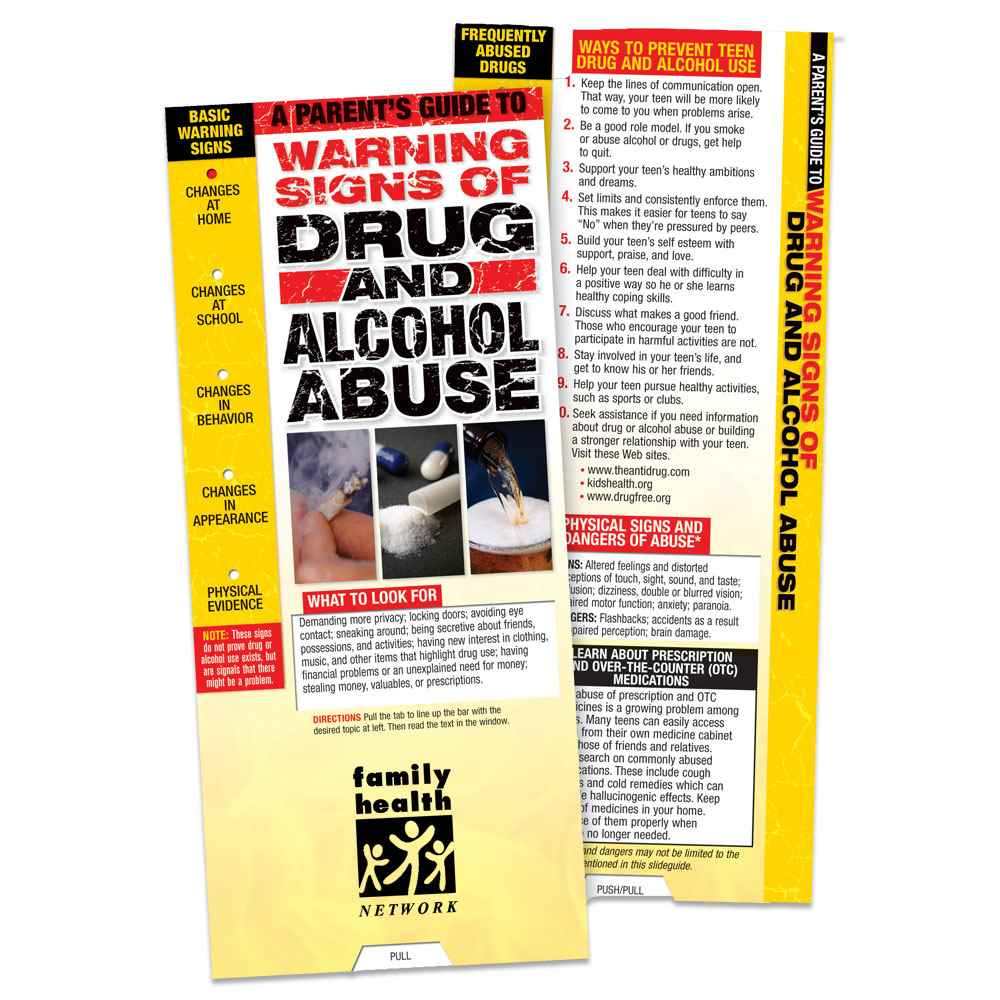 A Parent's Guide To Warning Signs Of Drug And Alcohol Abuse Slideguide - Personalization Available