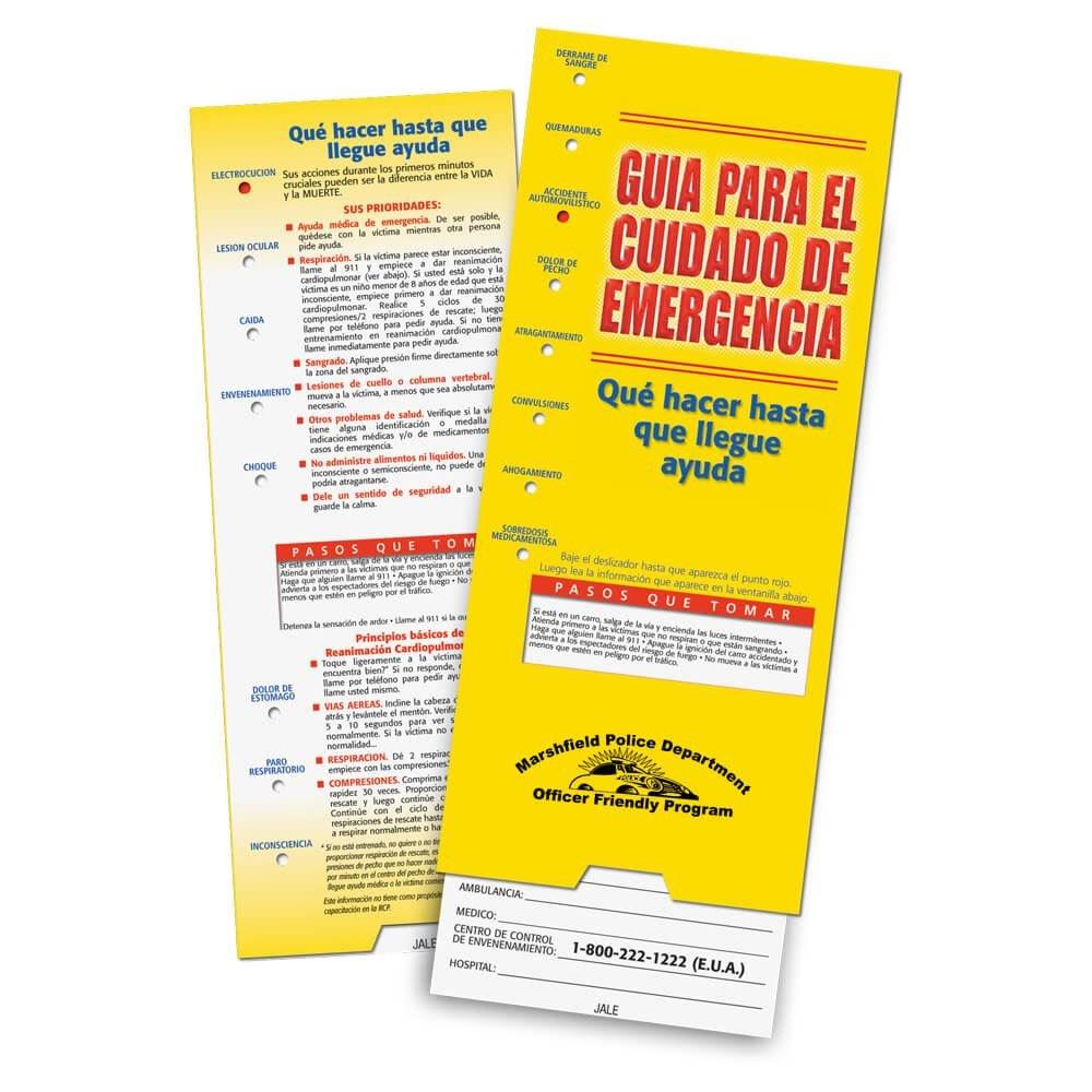 Emergency Care Slideguide (Spanish) - Personalization Available