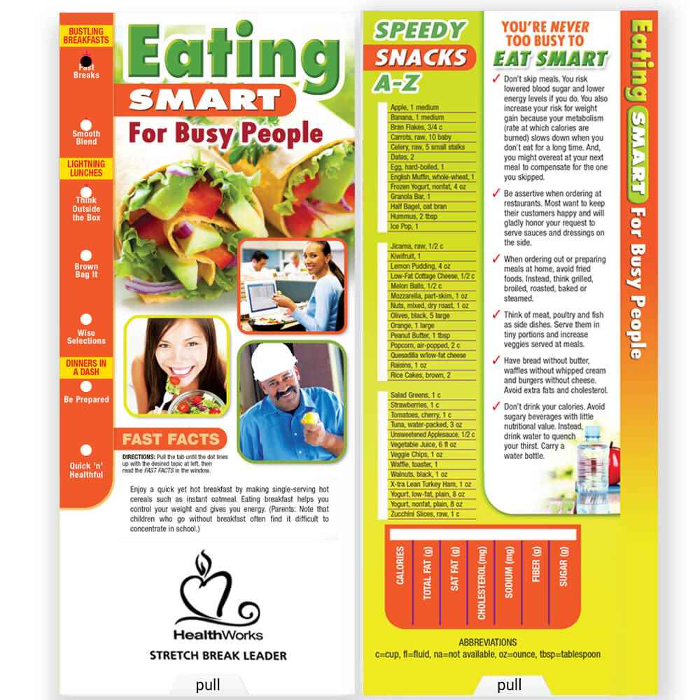 Eating Smart For Busy People Slideguide - Personalization Available