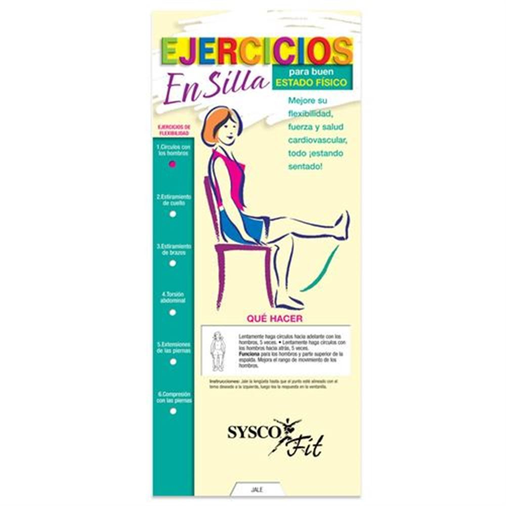 Chair Exercises For Fitness Slideguide Spanish Language - Personalization Available