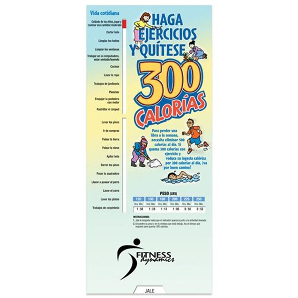 Exercise Away 300 Calories Slidgeguide (Spanish) - Personalization Available