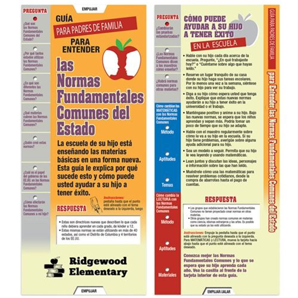 Parents' Guide To Understanding Common Core Standards Spanish Slideguide - Personalization Available