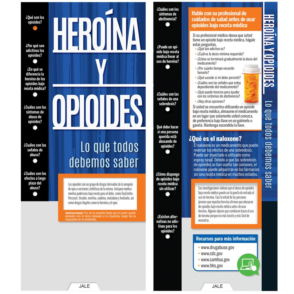 Heroin & Opioids: What Everyone Should Know Spanish Language Slideguide - Personalization Available