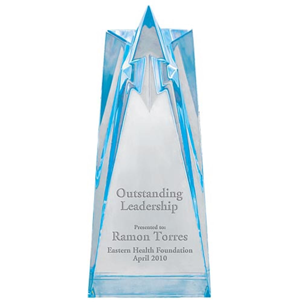 Sculpted Acrylic Star Awards (Blue) - Personalization Available