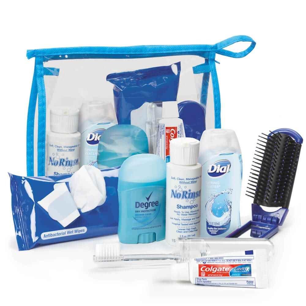 7-Piece Essential Hygiene Amenity Kit
