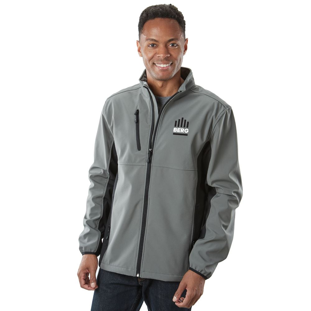 Clique® by Cutter & Buck® Men's Narvik Colorblock Soft Shell Jacket - Personalization Available