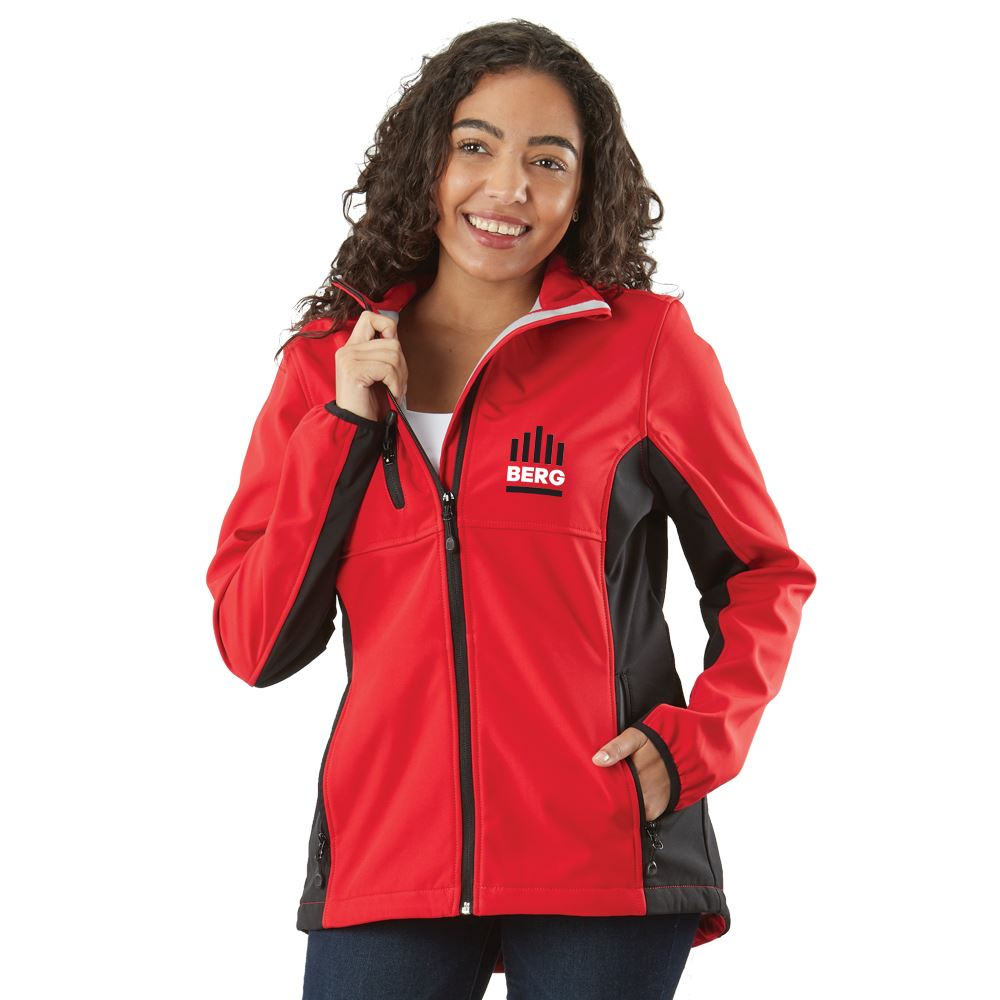 Clique® by Cutter & Buck® Women's Narvik Colorblock Soft Shell Jacket - Embroidered Personalization Available