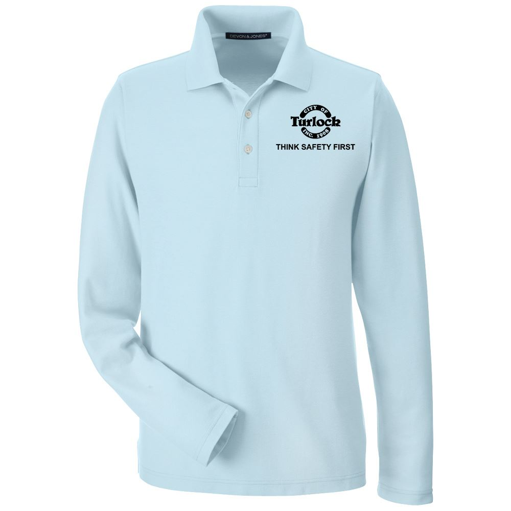 Devon & Jones® Men's Drytec20™ Performance Long-Sleeve Polo - Personalization Available