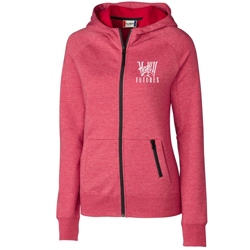Clique® Women's Lund Fleece Zip Hoodie - Embroidery Personalization Available