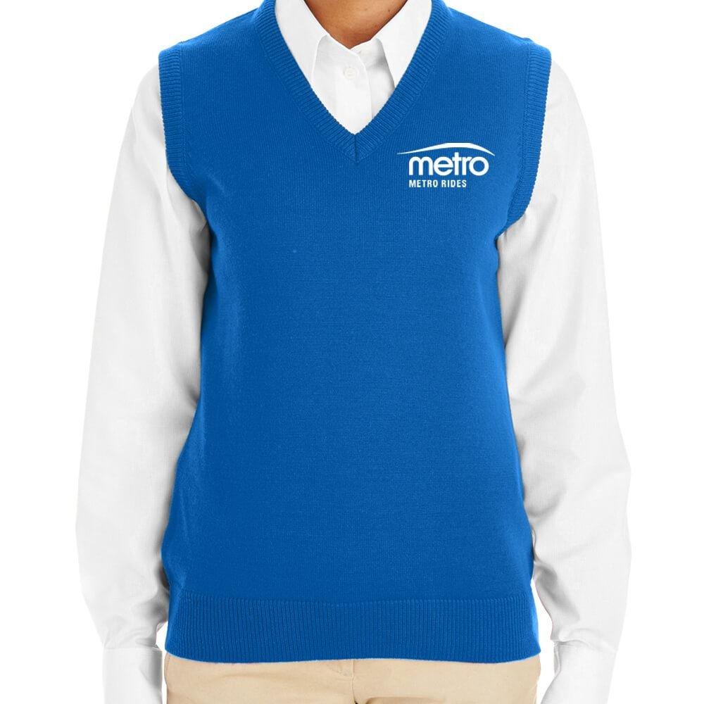 Harriton® Women's Pilbloc V-Neck Sweater Vest - Personalization Available