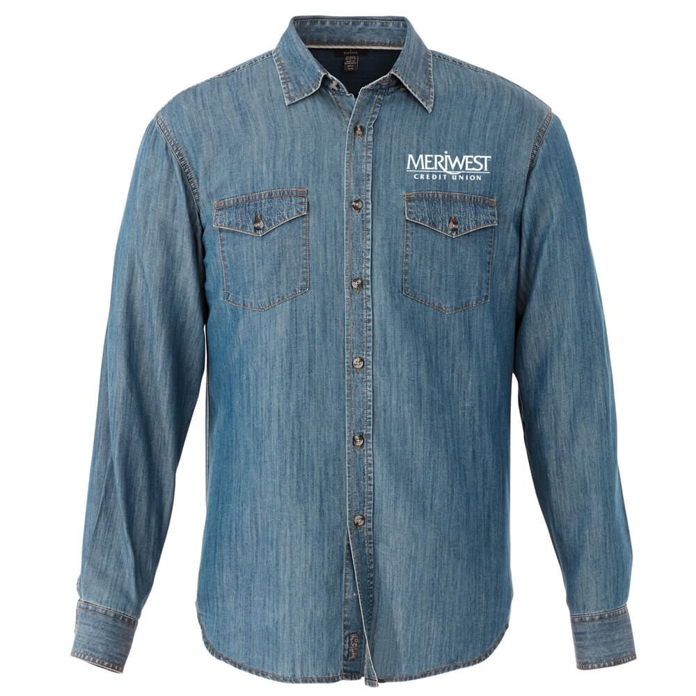 Elevate® Men's Sloan Long-Sleeve Shirt - Embroidery Personalization Available