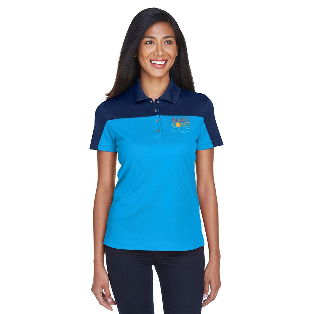 Core 365™ Women's Balance Colorblock Performance Pique Polo - Personalization Available