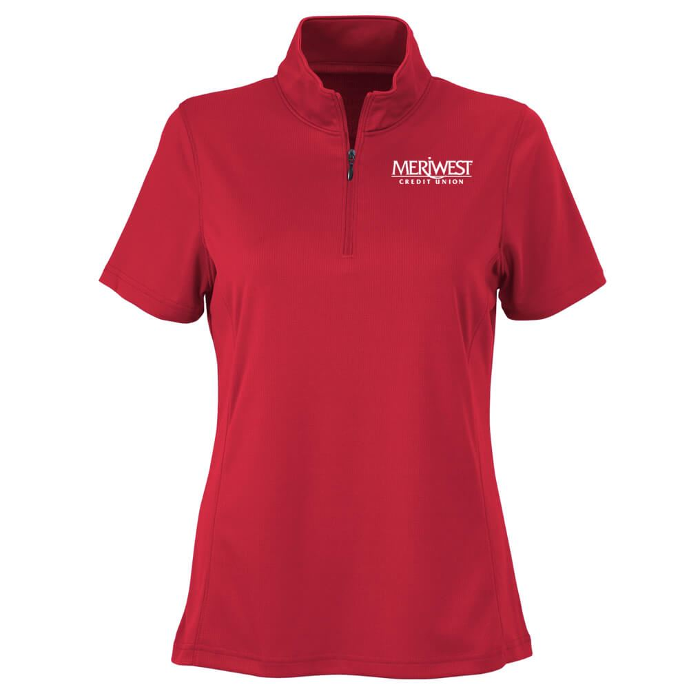 Vantage® Women's Vansport Micro-Waffle Mesh Polo - Personalization Available