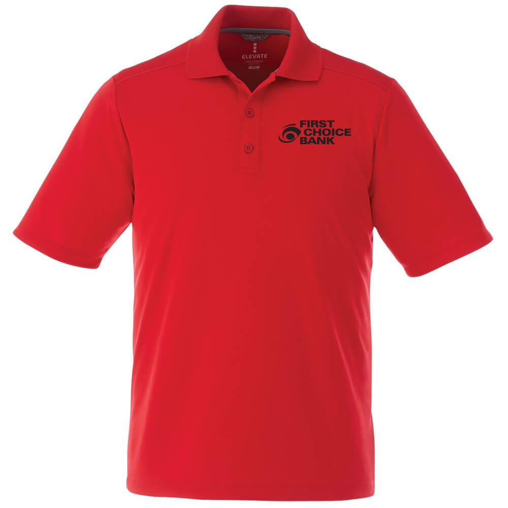 Elevate® Men's Dade Short Sleeve Polo - Embroidery Personalization Available