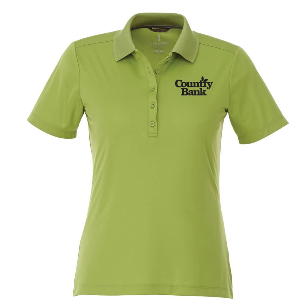 Elevate® Women's Dade Short Sleeve Polo - Embroidery Personalization Available