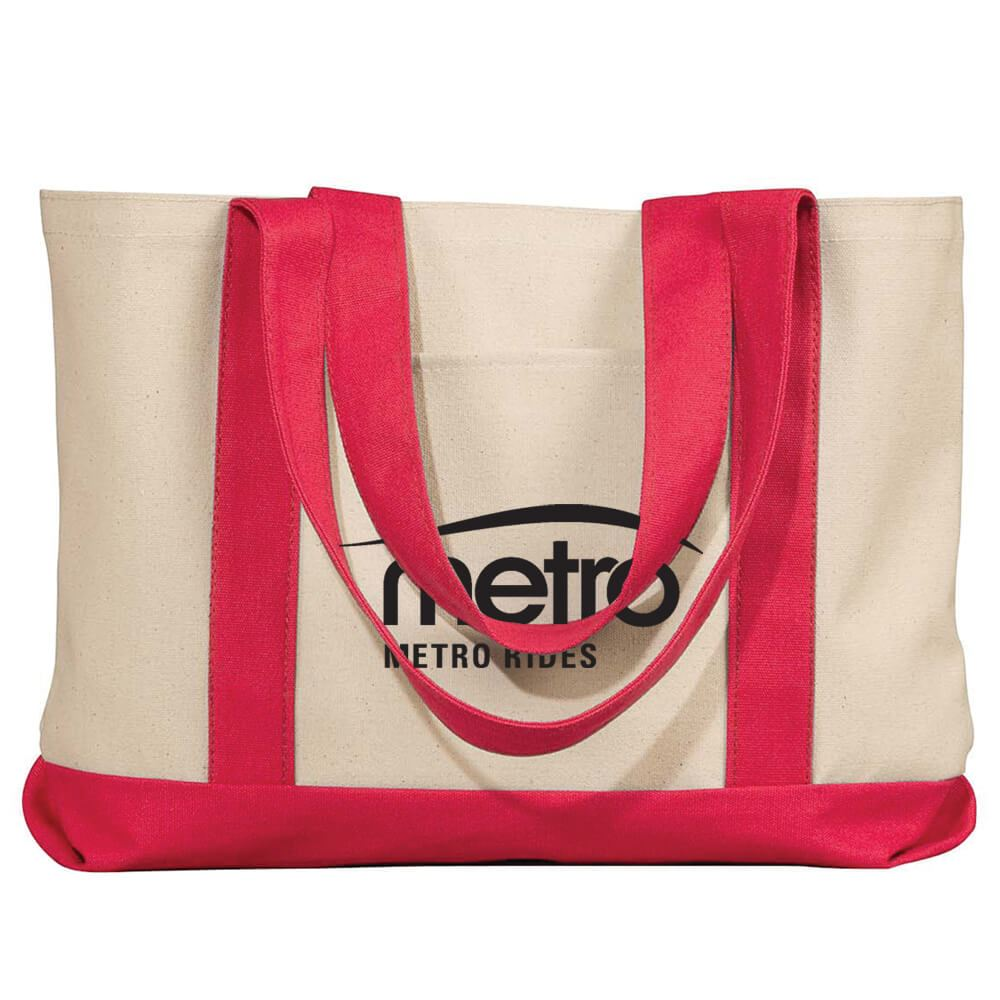 UltraClub® Leeward Canvas Tote - Personalization Available
