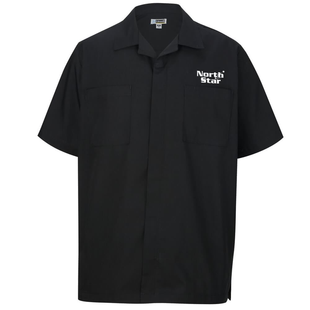 Men's Zip-Front Embroidered Service Shirt - Personalization Available