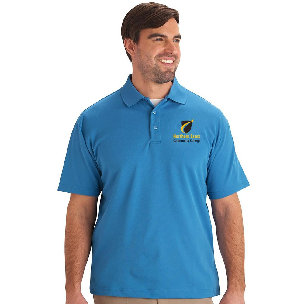 Men's Dry-Mesh Embroidered Hi-Performance Short Sleeve Polo - Personalization Available