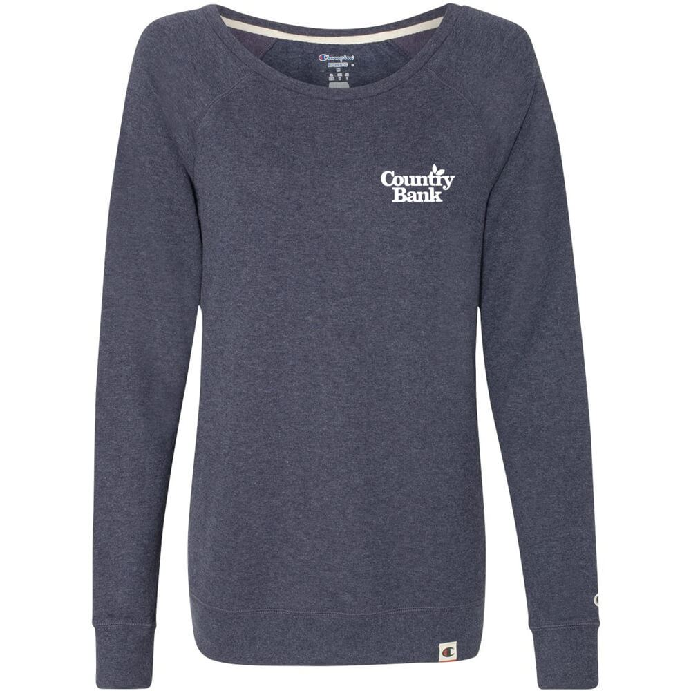 Champion® Originals Women's French Terry Boat Neck Sweatshirt - Personalization Available
