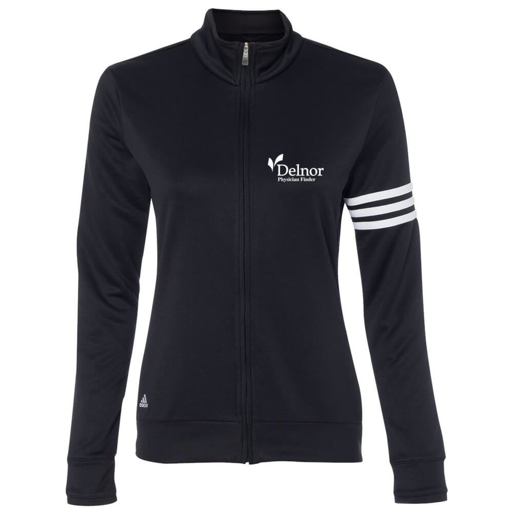 Adidas® Golf Women's ClimaLite 3-Stripes French Terry Full-Zip Jacket - Personalization Available