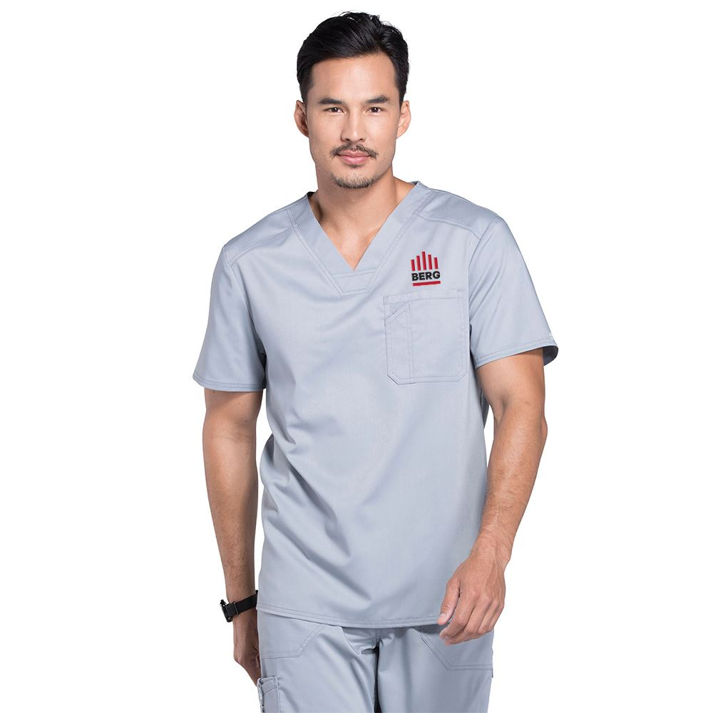 Cherokee® Men's One-Pocket Workwear Revolution V-Neck Scrubs Top - Personalization Available