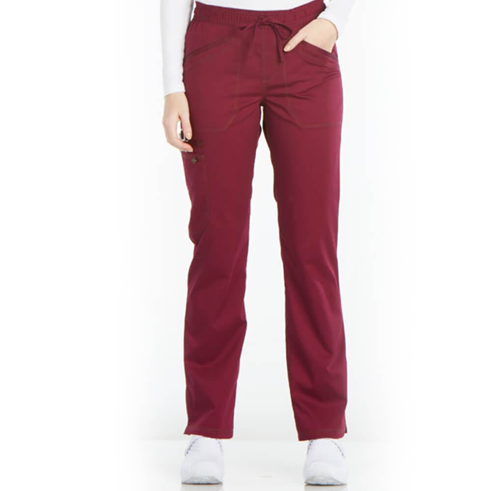 Dickies® Women's 4-Pocket Essence Mid-Rise Straight Leg Drawstring Scrubs Pants