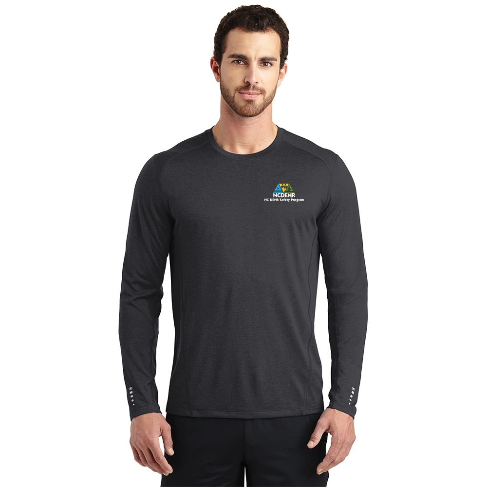 OGIO® Men's Performance Wicking Long Sleeve Pulse Crew Shirt�- Embroidered Personalization Available