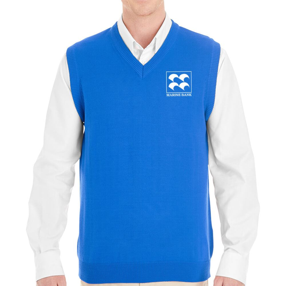 Harriton® Men's Pilbloc™ V-Neck Sweater Vest - Personalization Available