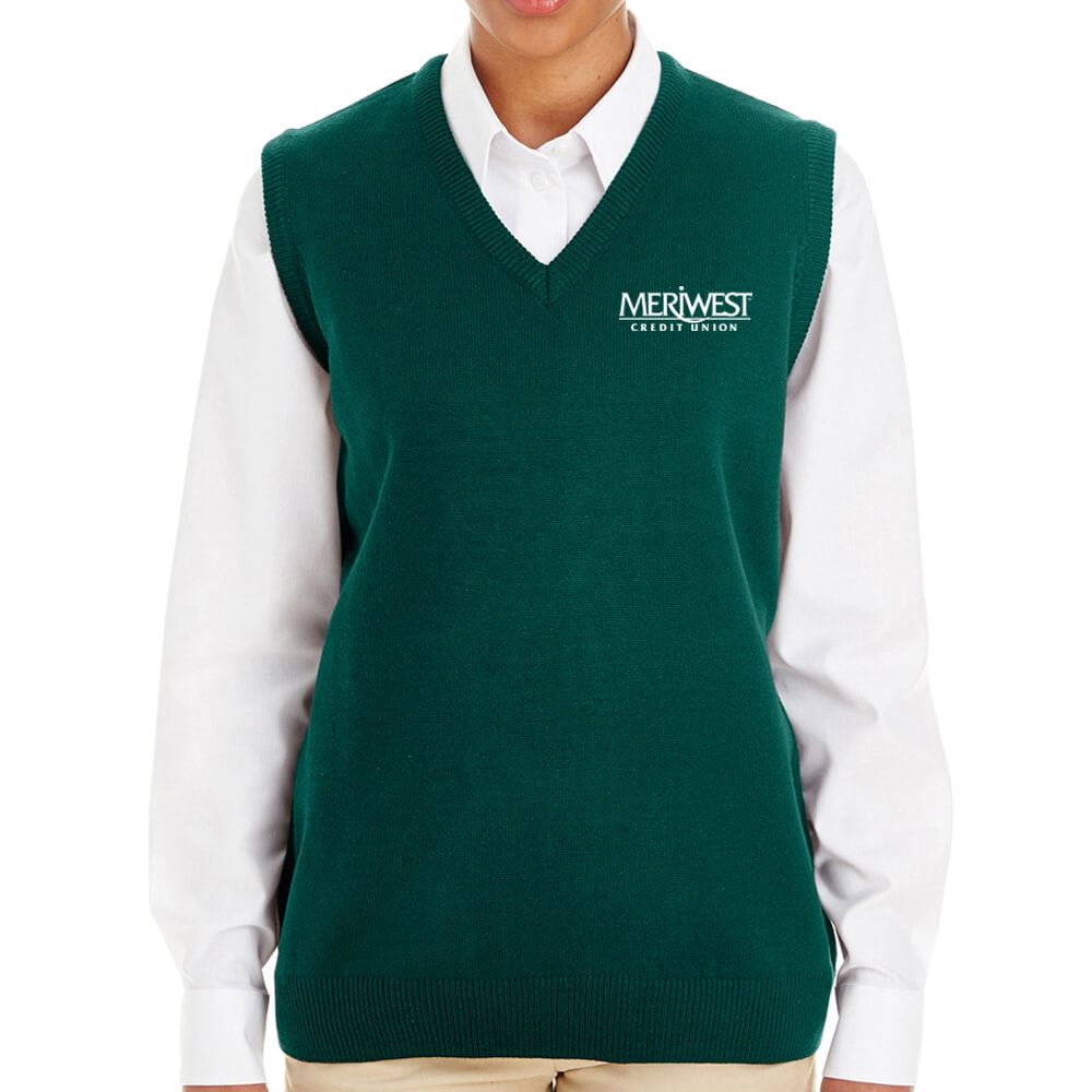 Harriton® Women's Pilbloc™ V-Neck Sweater Vest - Personalization Available