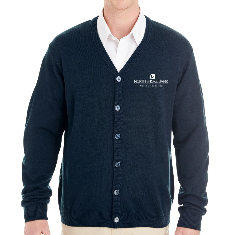 Harriton® Men's Pilbloc™ V-Neck Button Cardigan Sweater - Personalization Available