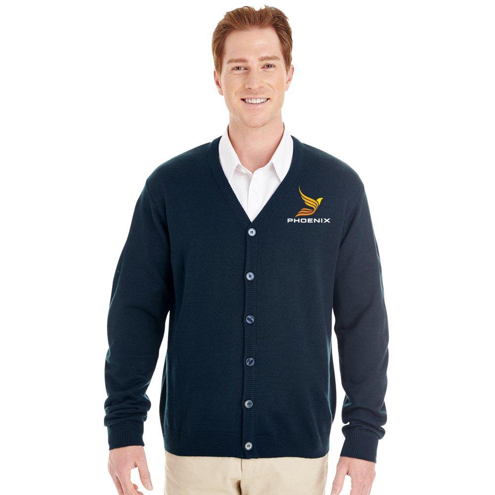 Harriton® Men's Pilbloc™ V-Neck Button Cardigan Sweater - Personalization Available