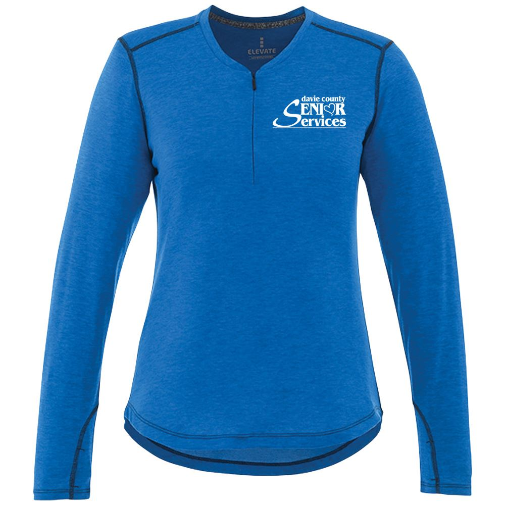 Elevate® Women's Quadra Long-Sleeve Top - Embroidery Personalization Available