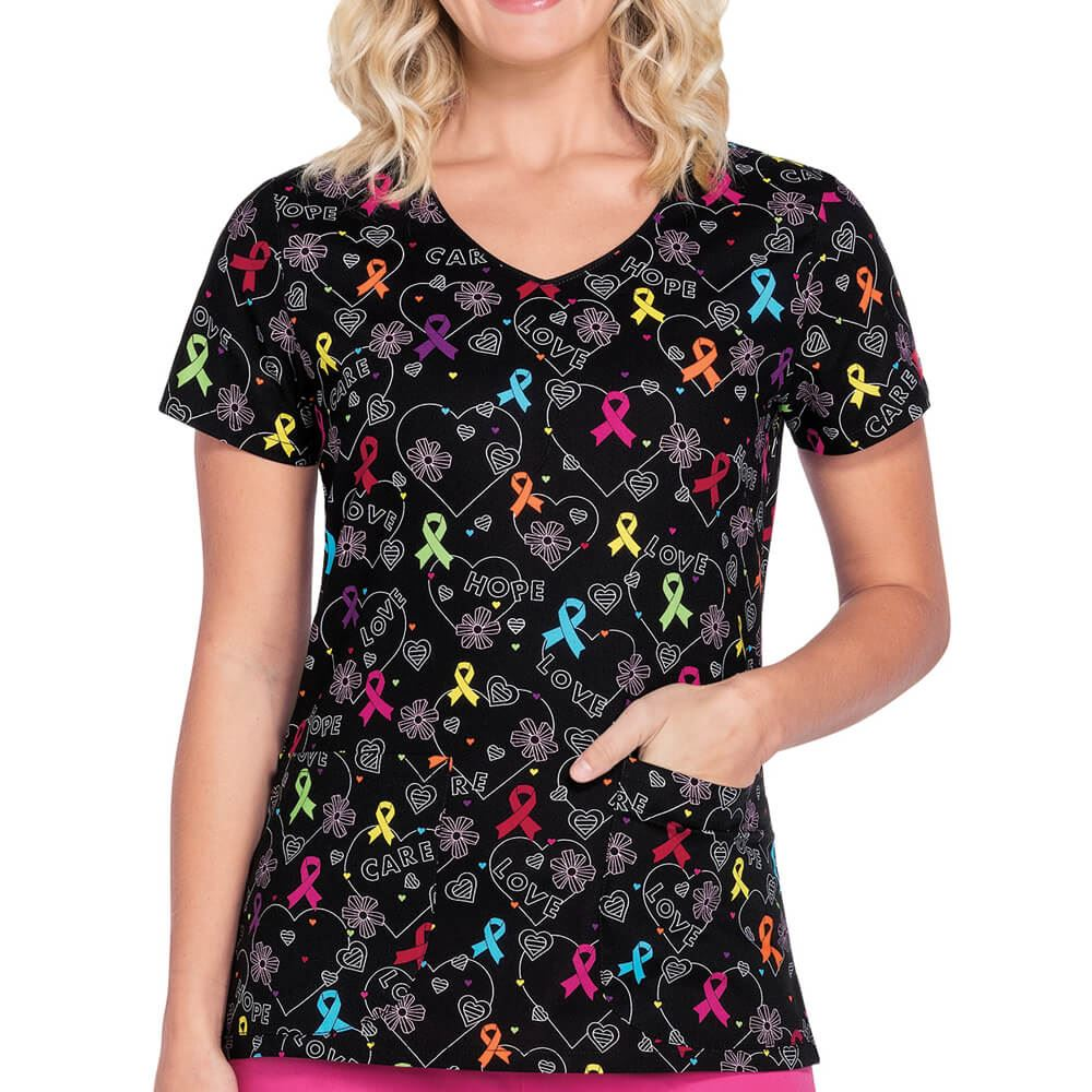 Dickies® Women's Ribbon V-Neck Scrubs Top
