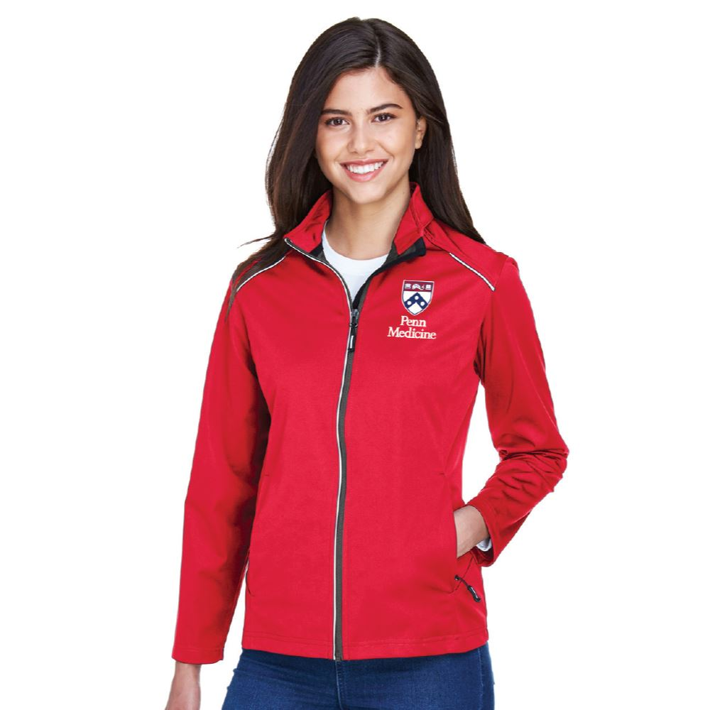 Core 365® Women's Techno Lite Three-Layer Knit Tech-Shell Jacket - Embroidered Personalization Available