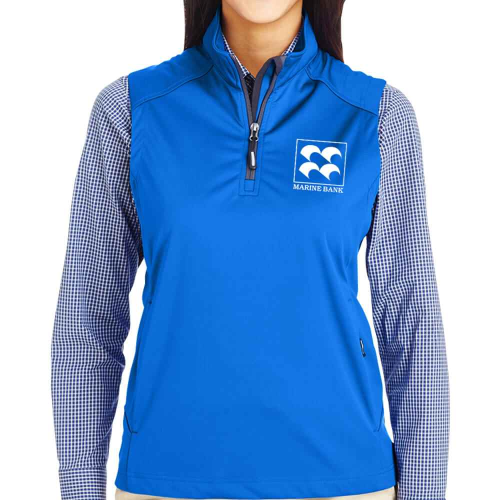 Ash City Core 365® Ladies' Techno Lite Three-Layer Knit Tech-Shell Quarter-Zip Vest - Personalization Available