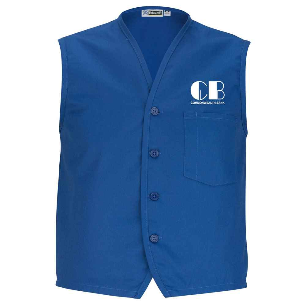 Edwards® Apron Vest With Breast Pocket - Personalization Available