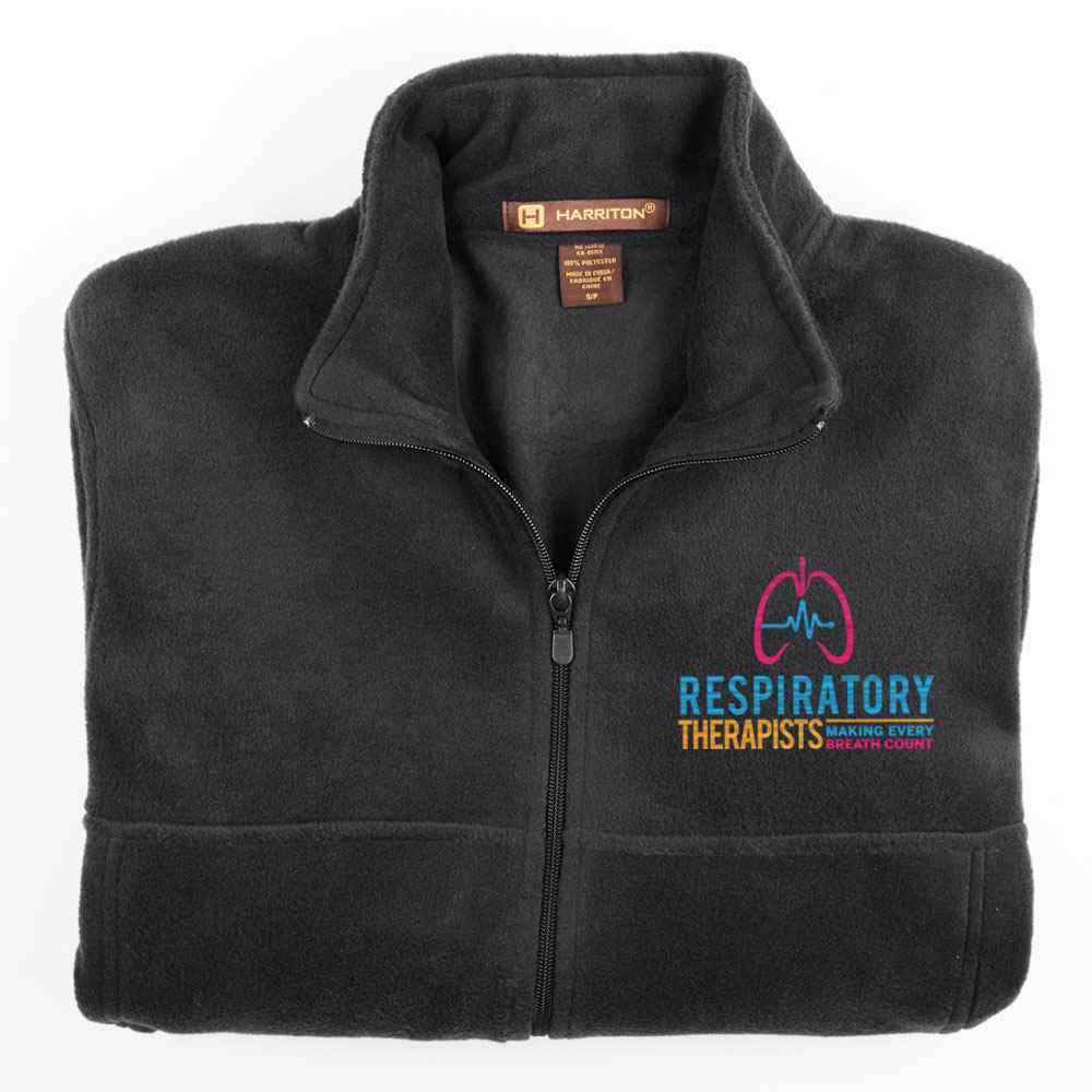 Respiratory Therapists: Making Every Breath Count Harriton® Men's Full-Zip Fleece Jacket - Personalization Available