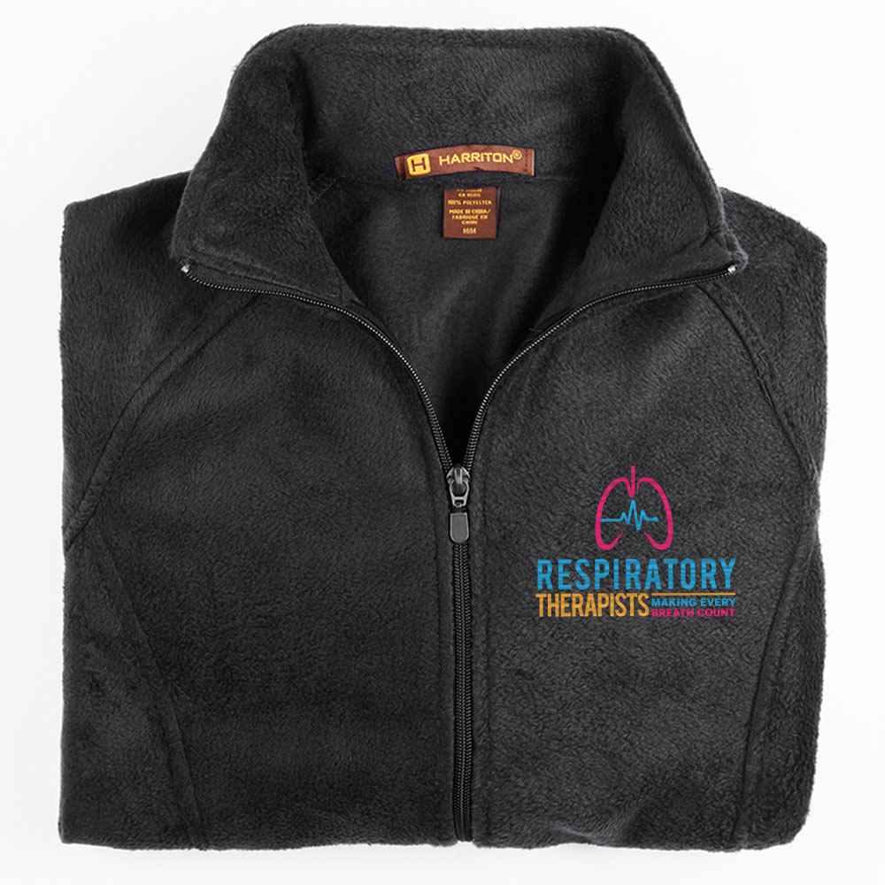 Respiratory Therapists: Making Every Breath Count Harriton® Women's Full-Zip Fleece Jacket - Personalization Available