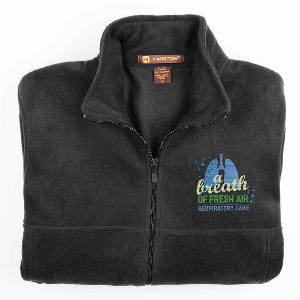 Respiratory Care: A Breath Of Fresh Air Harriton® Men's Full-Zip Fleece Jacket - Personalization Available