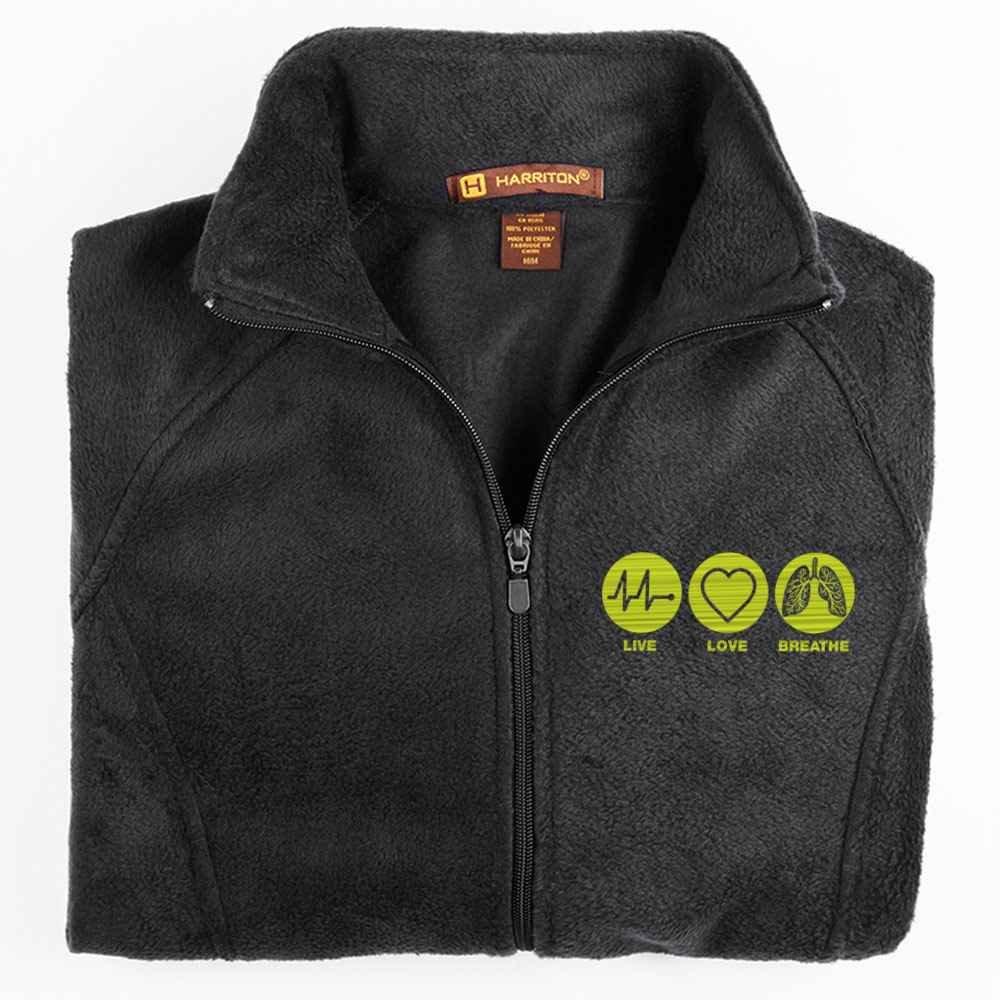 Live, Love, Breathe Harriton® Women's Full-Zip Fleece Jacket - Personalization Available