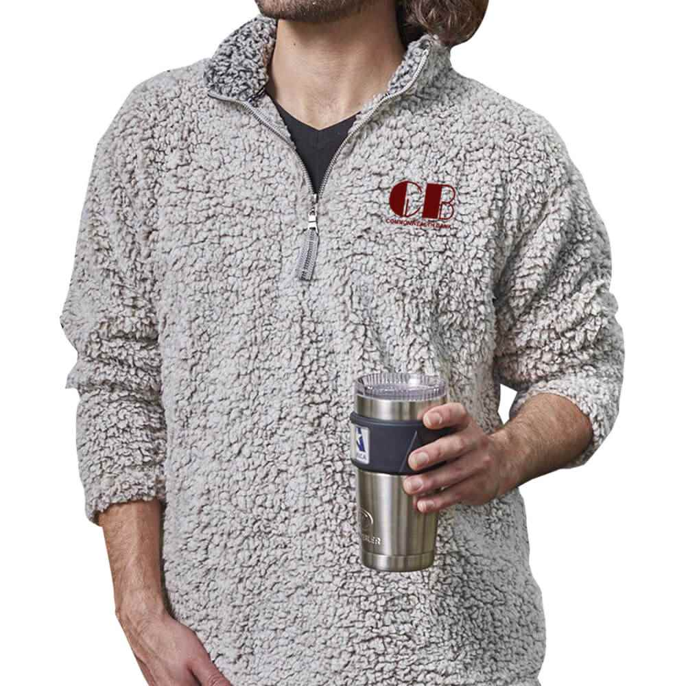 J. America® Men's Epic Sherpa Quarter-Zip - Personalization Available