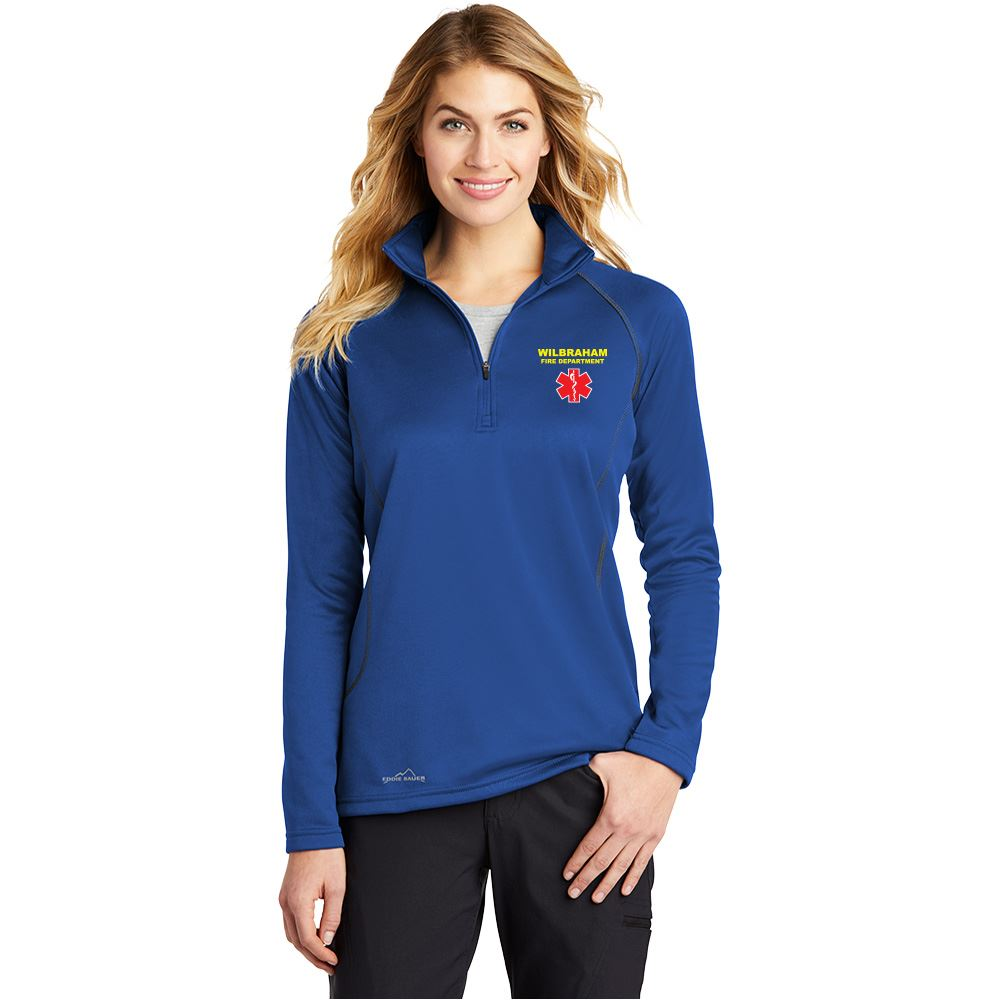 Eddie Bauer® Women's Half-Zip Base Layer Fleece - Embroidered Personalization Available