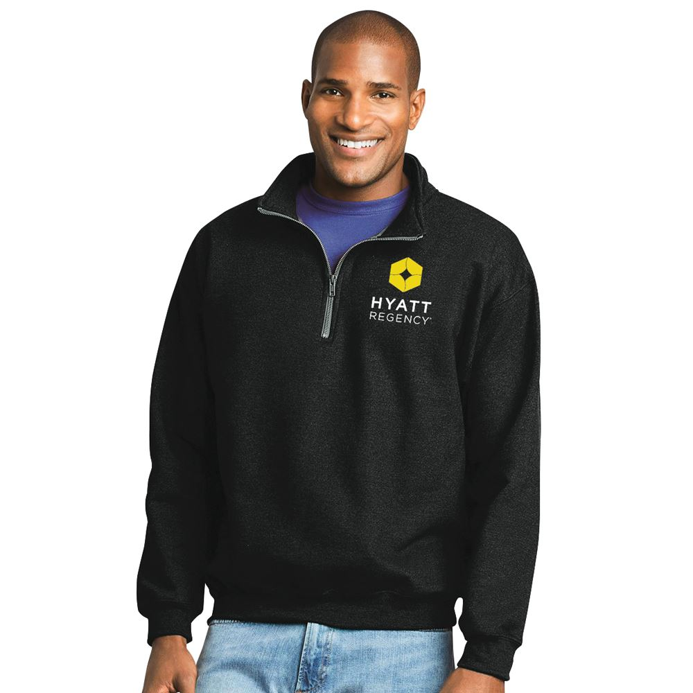 Gildan® Heavy Blend™ Adult Quarter-Zip Cadet Collar Sweatshirt - Embroidery Personalization Available