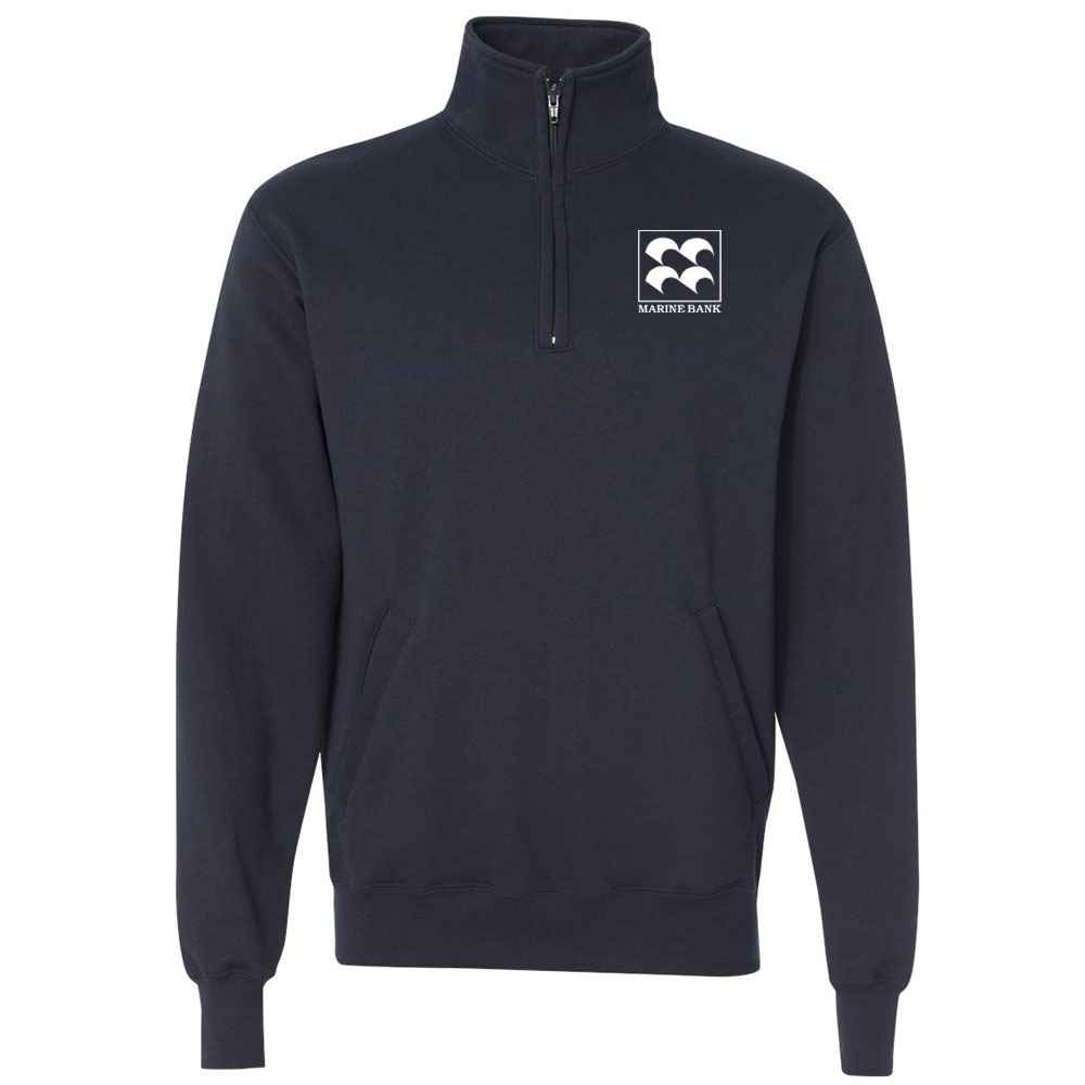 Champion® Adult Double Dry Eco® Quarter-Zip Pullover Sweatshirt - Embroidery Personalization Available