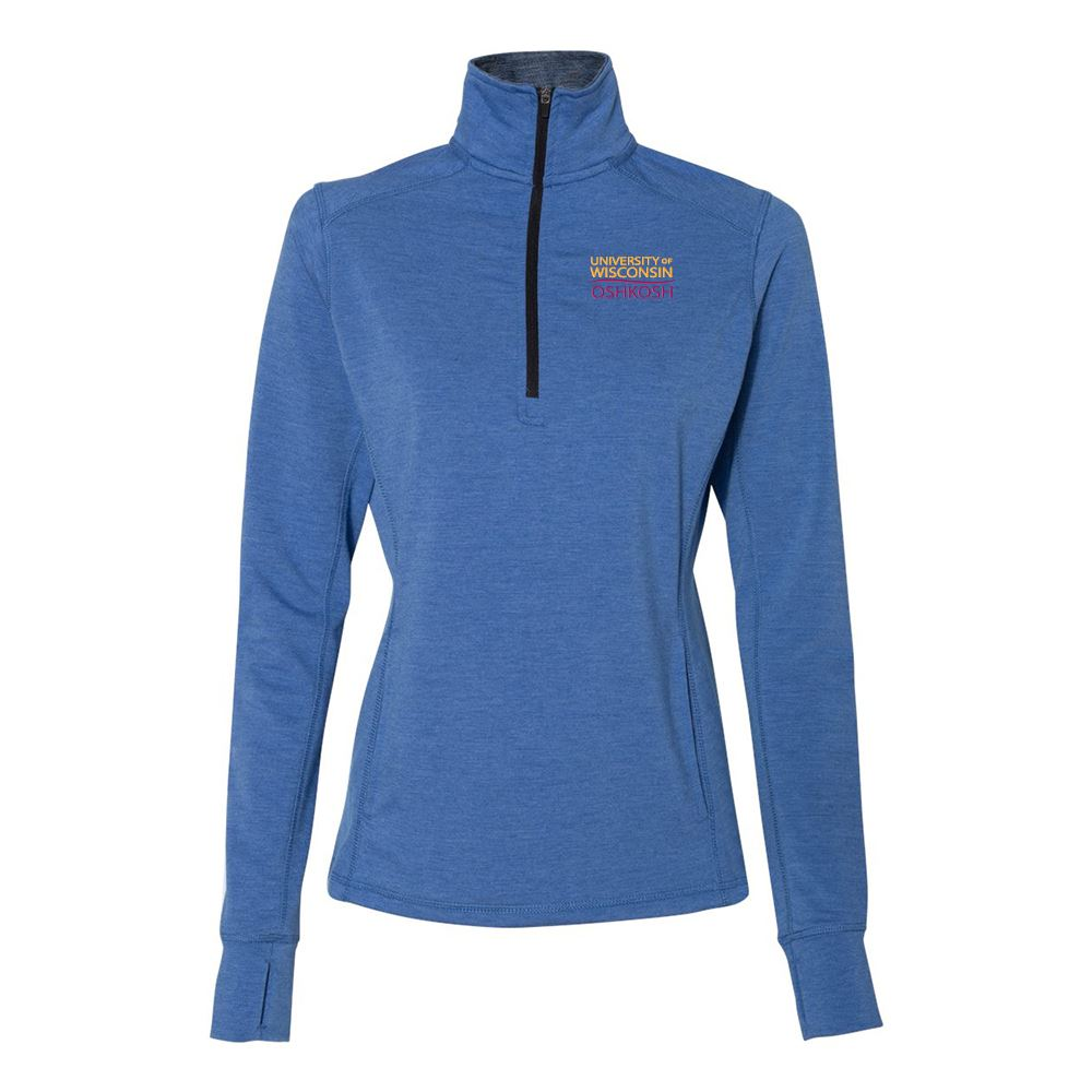 J. America® Women's Omega Stretch Terry Quarter-Zip Pullover Sweatshirt - Personalization Available