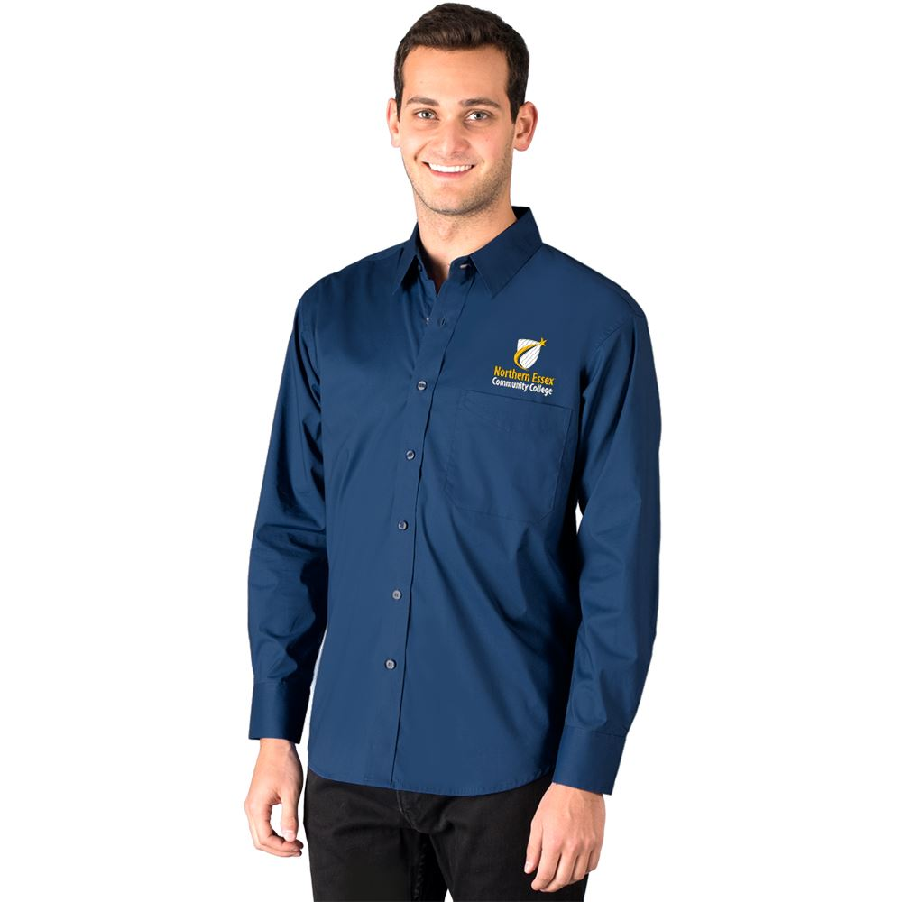Blue Generation® Untucked Superblend Men's Poplin Long Sleeve Shirt - Personalization Available