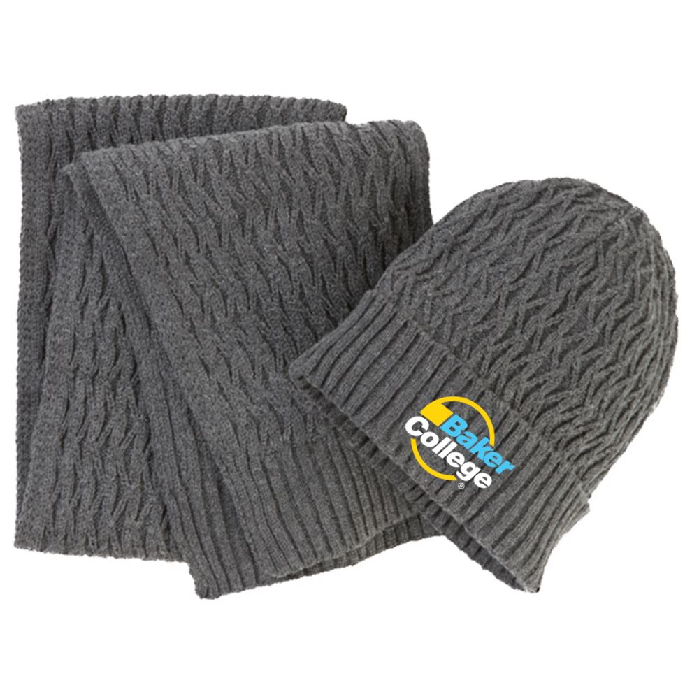 Apollo® Deluxe Beanie & Scarf Set - Personalization Available