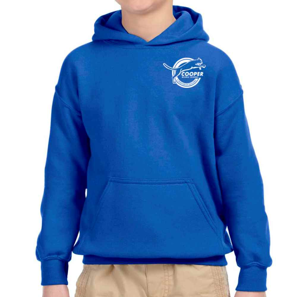 Gildan® Heavy Blend™ Youth Hooded Sweatshirt - Front Chest Personalization Available